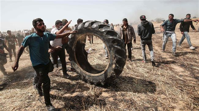 drone-footage-captures-protests-at-gaza-border