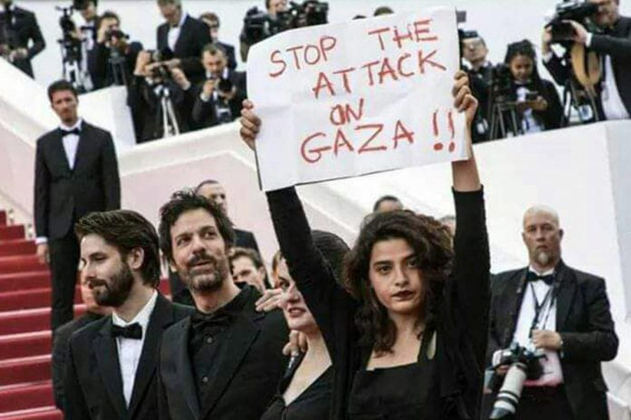 stop-attack-gaza-actors-protest-cannes-film-festival