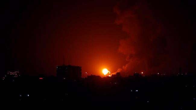 israeli-warplanes-bombard-northern-gaza-strip
